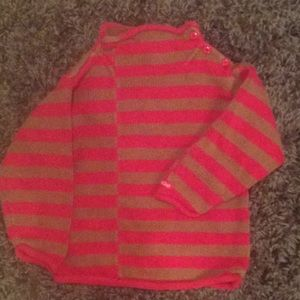Red and brown striped sweater